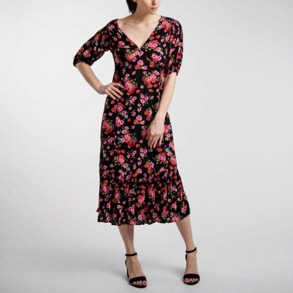 Stradivarius virág mintás hosszú ruha