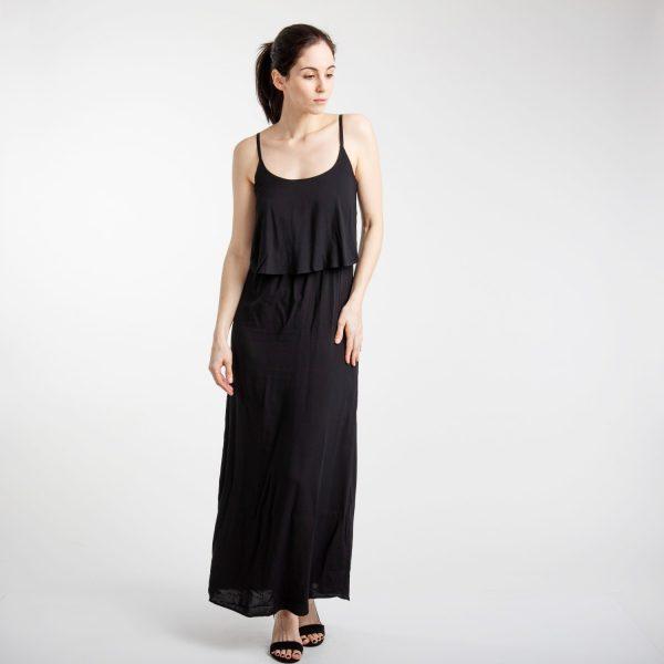 Vero Moda fekete elegáns hosszú ruha
