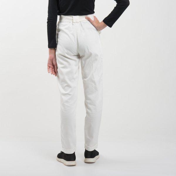 Bershka fehér nadrág, övvel