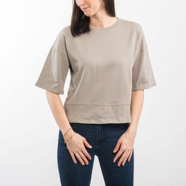 Zara basic barna póló
