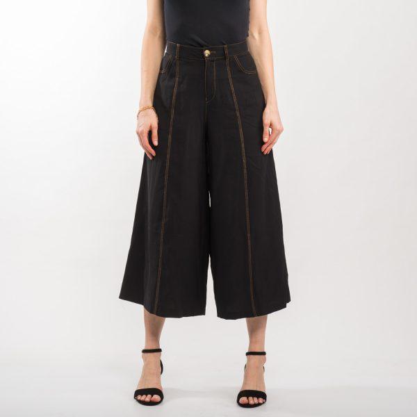 Zara 3/4-es elegáns nadrág csíkkal