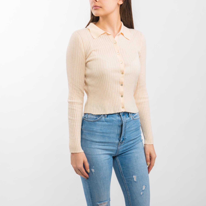 Zara galléros krémszínű felső