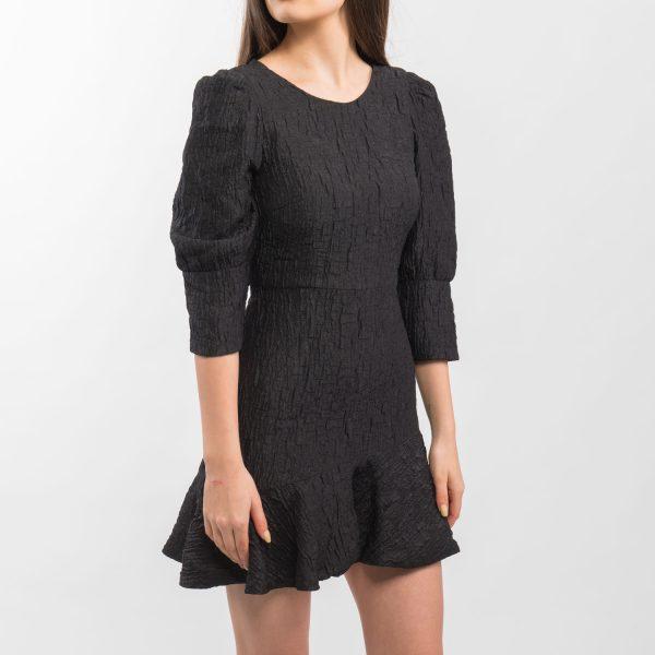 Zara gyűrött fekete buggyos ruha