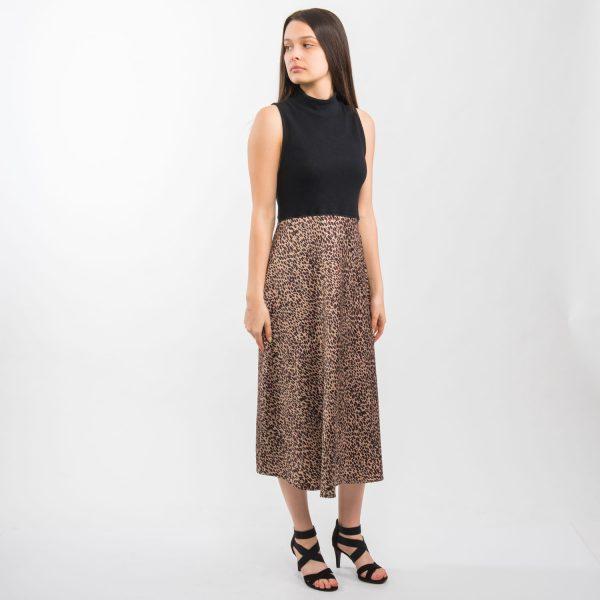 Zara fekete párduc mintás ruha