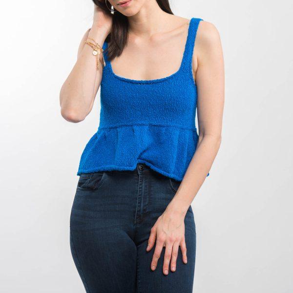 Zara kék kötött felső