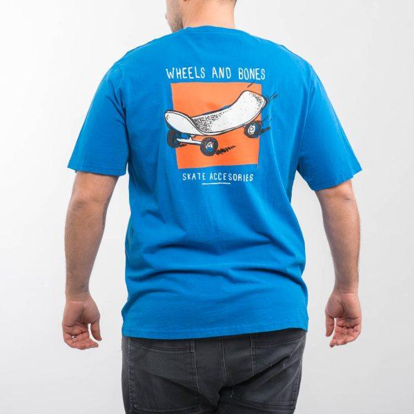 Pull&Bear kék gördeszka mintás póló