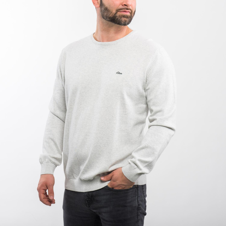s.Oliver szürkésfehér pulóver