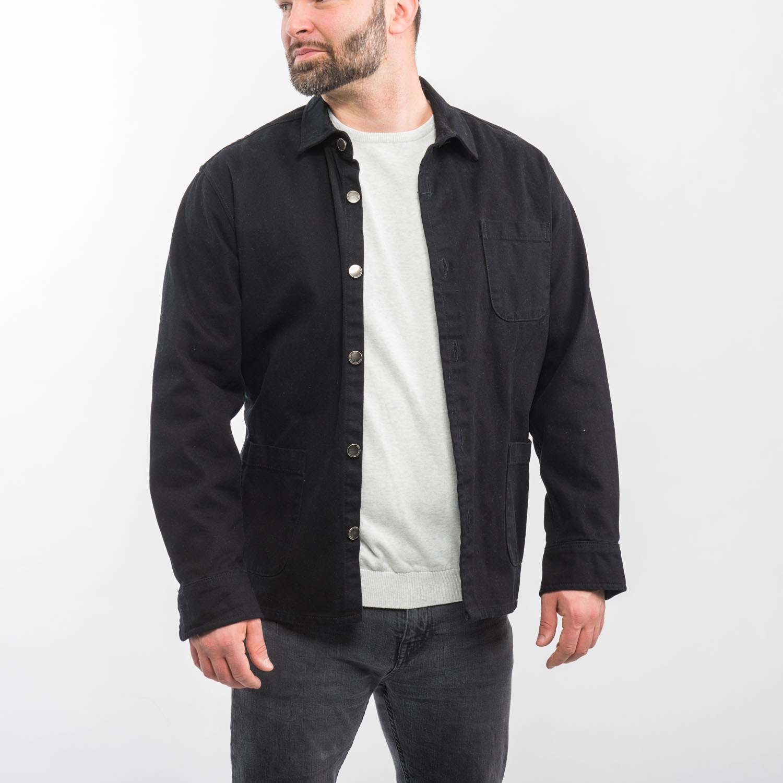 Zara Man fekete farmer kabát