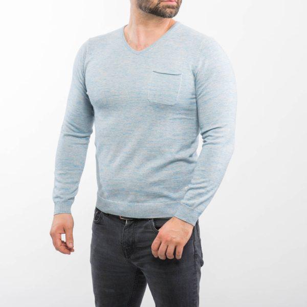 Tom Tailor szürkéskék pulóver