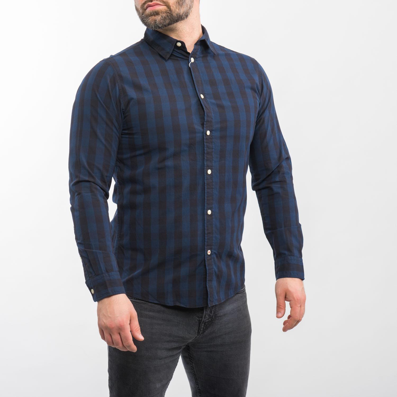 Jack and Jones fekete kék csíkos ing