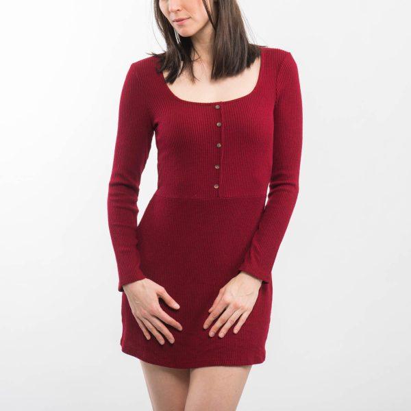 Bershka bordázott ruha