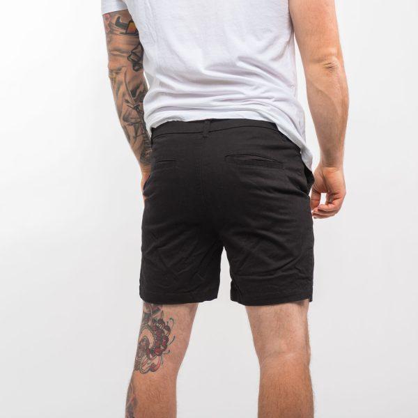 Homebound fekete elegáns rövid nadrág