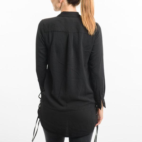 CUBUS fekete hosszított ing