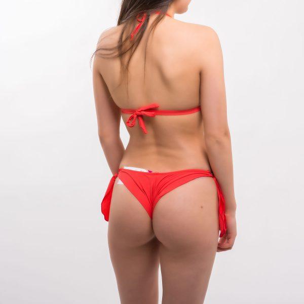 Sea korall háromszög fodros bikini