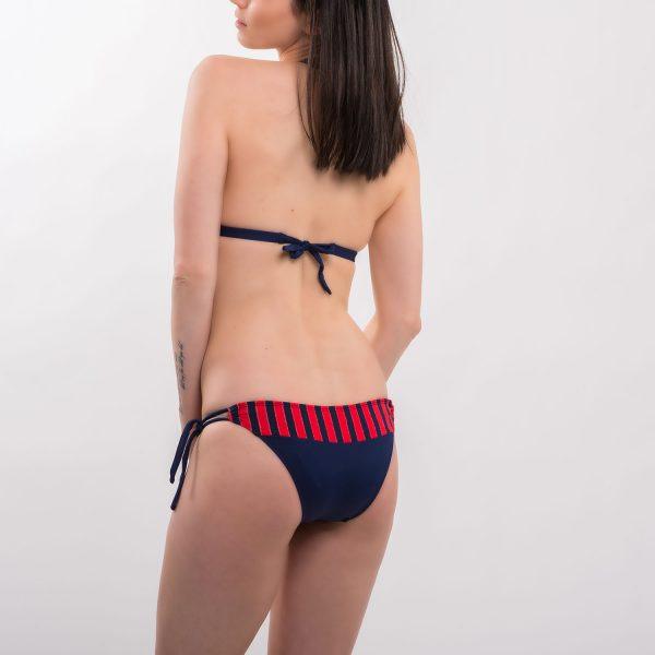 Sea kék-piros csíkos bikini