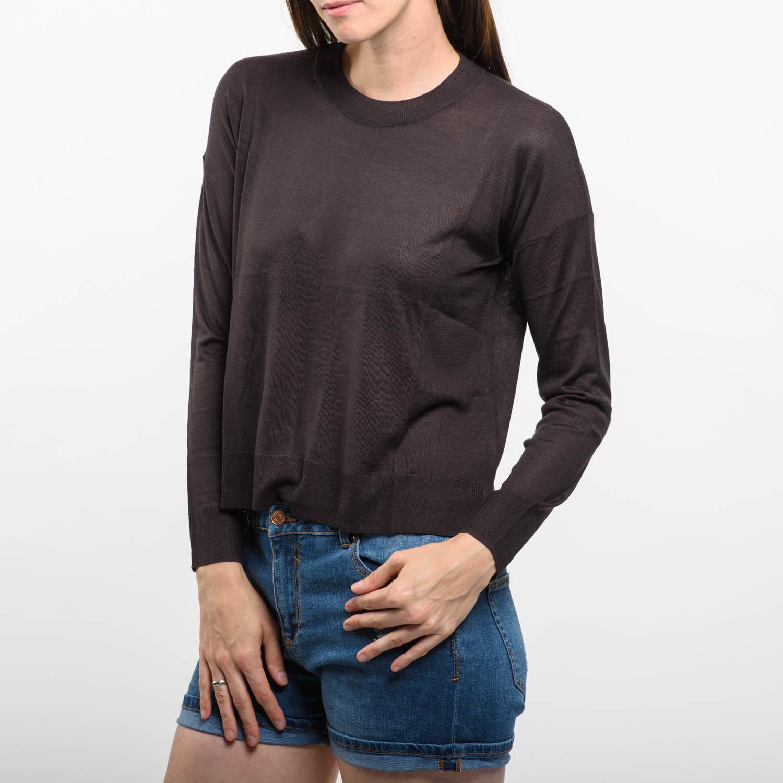 H&M barna vékony pulóver