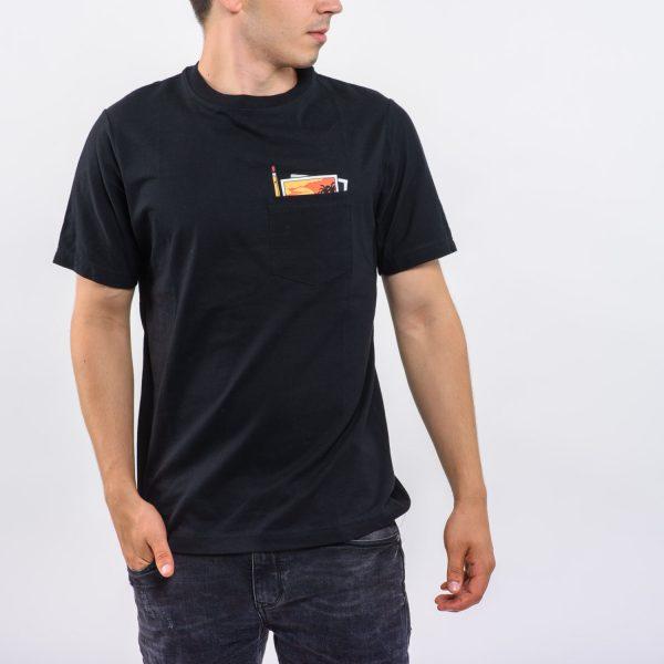 Pull&Bear fekete póló