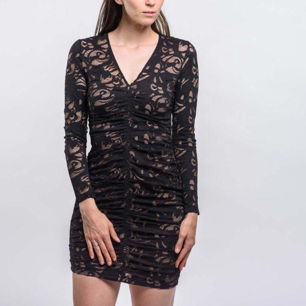 H&M fekete csipkés elegáns ruha