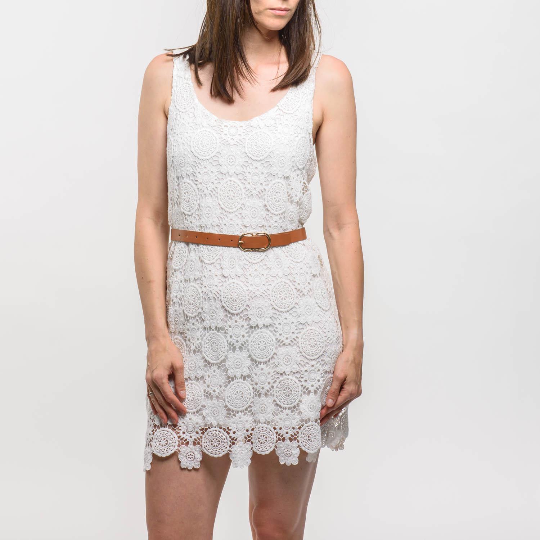Pull&Bear csipkés fehér ruha