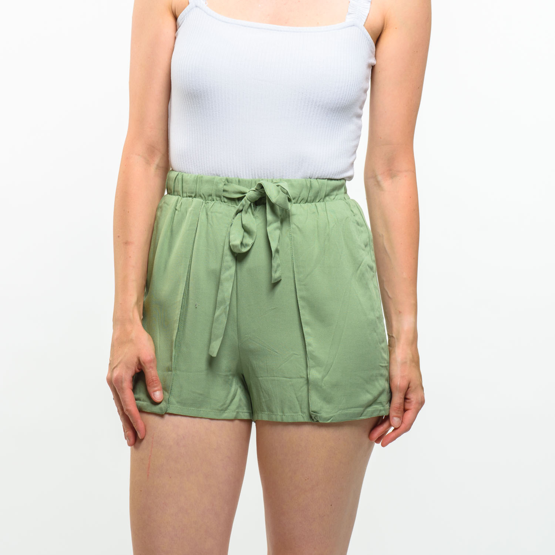 Pull&Bear zöld elegáns rövidnadrág