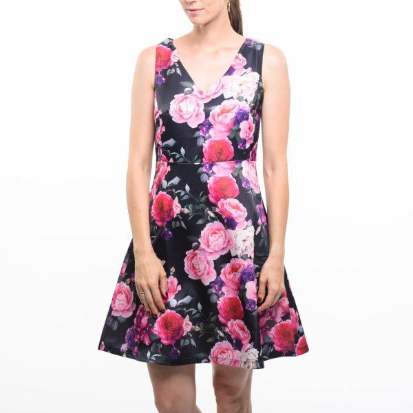 Smashed Lemon virágos elegáns ruha