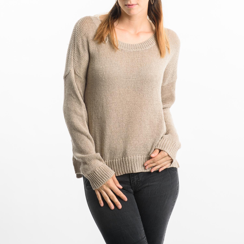 CUBUS bézs kötött pulóver